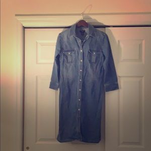 Authentic Polo fitted jean dress
